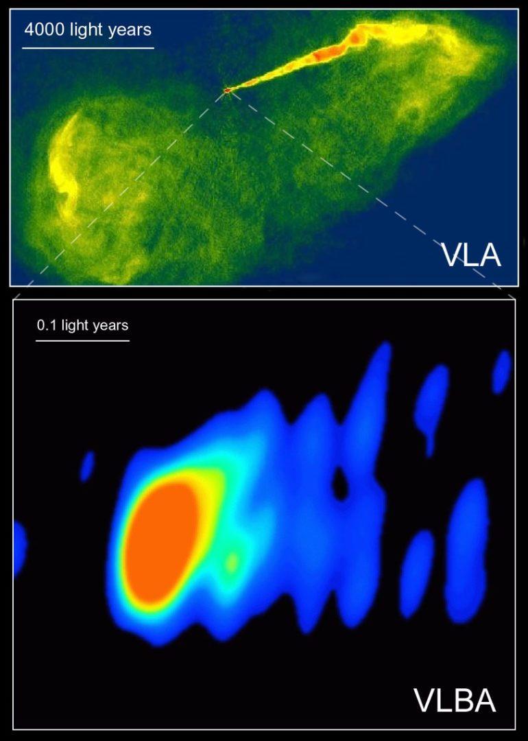 M87_VLA_VLBA_radio_astronomy