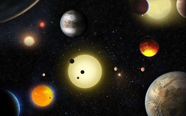 Καλλιτεχνική απεικόνιση των εξωπλανητών που δημοσίευσε η NASA.